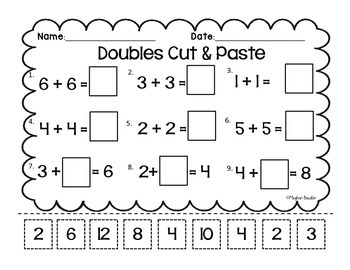 Doubles & Doubles Plus One Cut and Paste-CC- ENY Engage New York Supplement