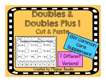 Doubles & Doubles Plus One Cut and Paste-CC- ENY Engage Ne