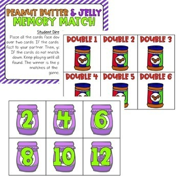 Doubles Facts and Doubles Plus One Games & Activities