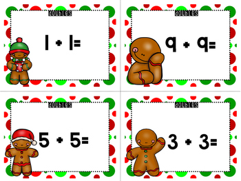 Gingerbread Theme - Doubles, Doubles Plus One, and Doubles Minus One (FREE)