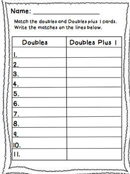 Doubles & Doubles plus 1 Polka Dot Task Cards
