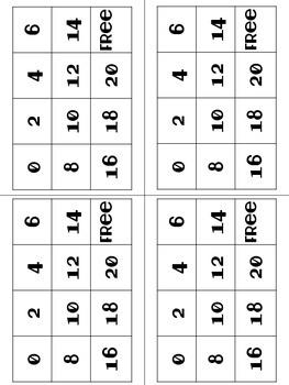 Doubles Fact Bingo Game