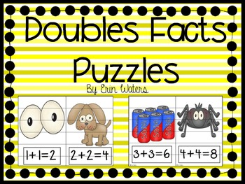 Doubles Fact Cut-Apart Puzzles FREEBIE