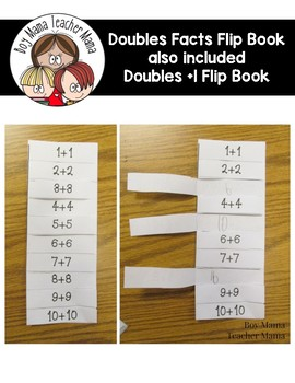 Doubles Fact Flip Book also included  Doubles Plus 1 Flip Book