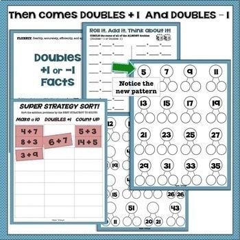 Doubles Fact Fluency Assessment and Activities 1.OA.C6 Teach for Understanding