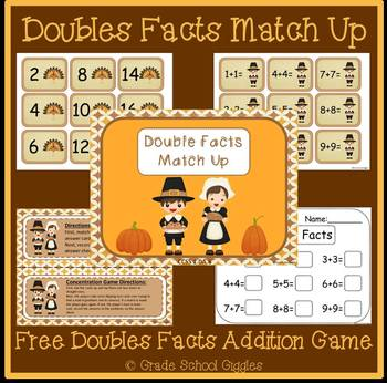 Doubles Fact Match: An Addition Center Game