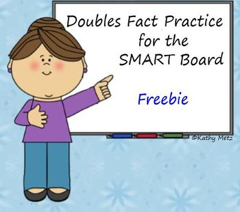 Doubles Fact Practice for the SMART Board Freebie!