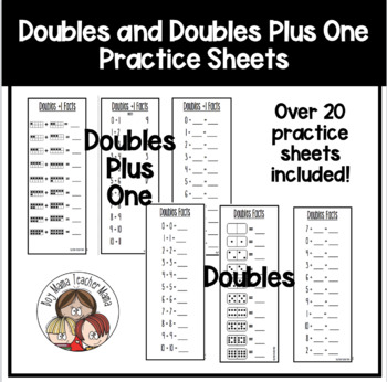 Doubles Facts + 1 Practice Pages