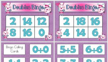 Doubles Facts Addition Bingo