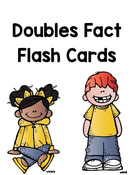 Doubles Facts Addition Flash Cards