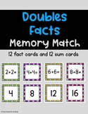 Doubles Facts Addition Memory Match Game