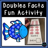 Doubles Facts Activity Task Cards and Recording Sheets