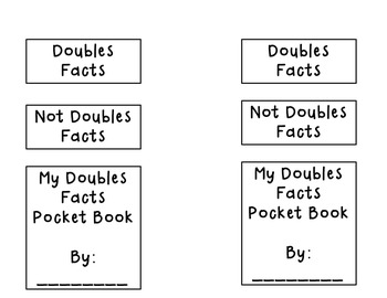 Doubles Facts Booklet