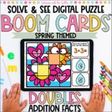 Doubles Facts Boom Cards™ | Solve to Reveal the Puzzle
