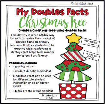 Doubles Facts Christmas Tree by the think tank | TpT