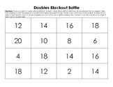 Doubles Facts: DOUBLES BLACKOUT BATTLE