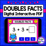 Doubles Facts: Digital Task Cards for Addition - Interactive PDF