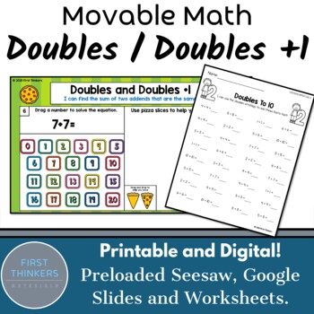 Doubles Facts Doubles Plus One Google Slides Seesaw Digital Math Game