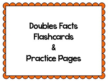 Doubles Facts Flashcards