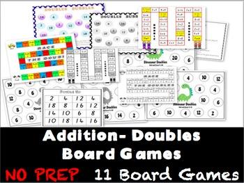 Doubles Facts Games BUNDLE