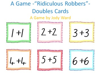 Doubles Facts Game - Ridiculous Robbers
