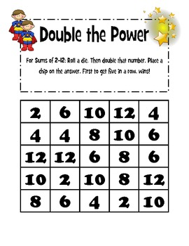 Doubles Facts Games