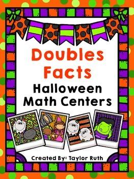 Doubles Facts Halloween Math Center