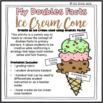 Doubles Facts Ice Cream Cone