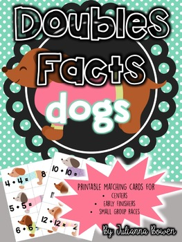 Doubles Facts Matching Cards