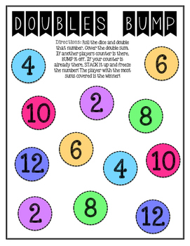 Doubles Facts Math Game