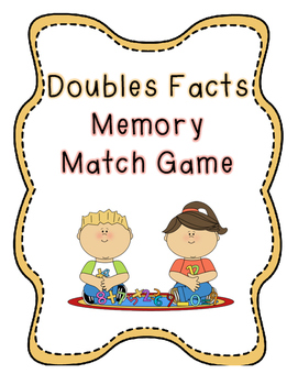 Doubles Facts Memory Match Game