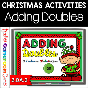 Doubles Facts Christmas Powerpoint Game