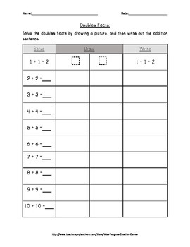 Doubles Facts- Practice and Assessment