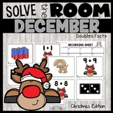 Doubles Facts Scoot for Christmas