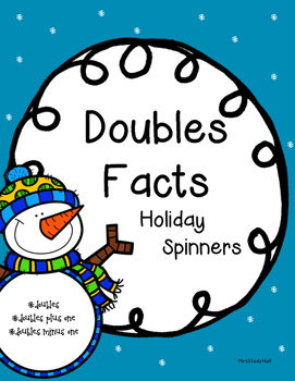 Doubles Facts Spinners Christmas