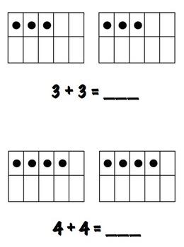 Doubles Facts - Ten Frames Images