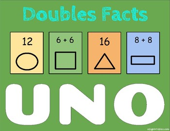 Doubles Facts Uno