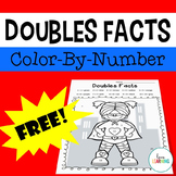Doubles Facts Up to 20: Color-by-Number Superhero Freebie