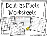 Doubles Facts Worksheets-8 Worksheets Included!