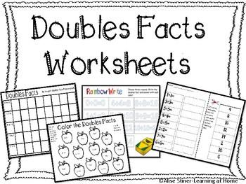 Doubles Facts Worksheet Teachers Pay Teachers