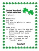 St. Pattrick's/ Valentines Doubles Facts and Doubles plus 1: 2 themed games-