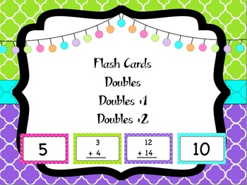 Doubles Flash Cards