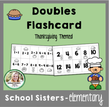 Doubles Flash Cards - Thanksgiving Themed