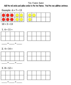 Doubles Game - Make a Ten - 1st Grade