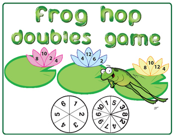 Doubles Game for Numbers 1-6 and 1-10