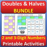 Doubles Halves Activities BUNDLE