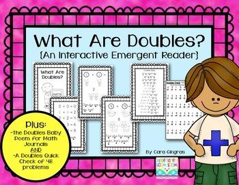 Doubles Math Facts First Grade Emergent Reader