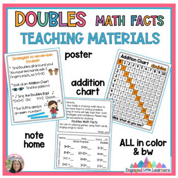 Doubles Math Fact Fluency: Games, Anchor Chart, Worksheets & More!