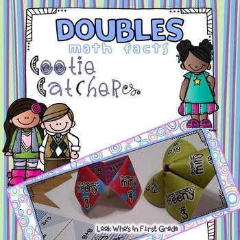 Doubles Math Facts Cootie Catcher