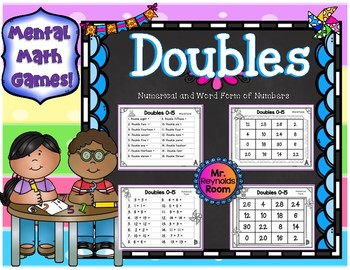Doubles Facts Center Activity